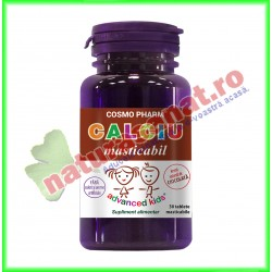 Calciu Masticabil 30 tablete - Cosmo Pharm