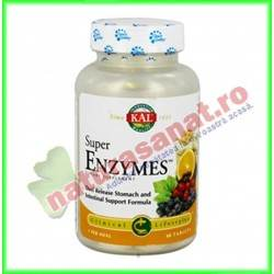 Super Enzymes 30 tablete cu eliberare prelungita - KAL Solaray - Secom