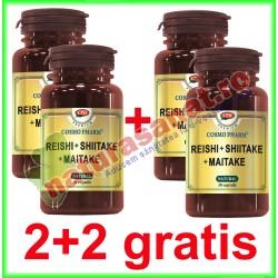Reishi + Shiitake + Maitake 30 capsule PROMOTIE 2+2 GRATIS - Cosmo Pharm