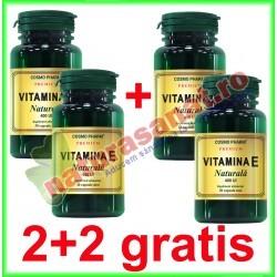 Vitamina E Naturala 550 mg 30 capsule moi PROMOTIE 2+2 GRATIS - Cosmo Pharm
