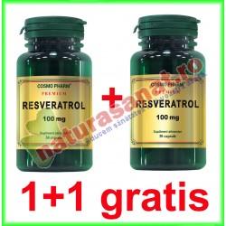 Resveratrol 100 mg 30 capsule PROMOTIE 1+1 GRATIS - Cosmo Pharm