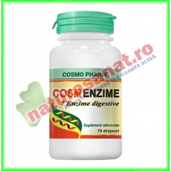 Cosm Enzime ( 7 Enzime Digestive ) 10 drajeuri - Cosmo Pharm