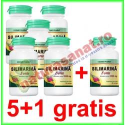 Silimarina Forte echivalent a minim 2500 mg 30 tablete PROMOTIE 5+1 GRATIS - Cosmo Pharm