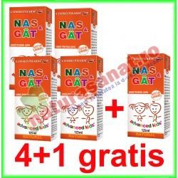 Nas si Gat Sirop 125 ml PROMOTIE 4+1 GRATIS - Cosmo Pharm