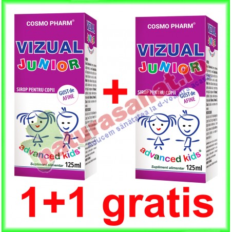 Vizual Junior Sirop 125 ml PROMOTIE 1+1 GRATIS - Cosmo Pharm