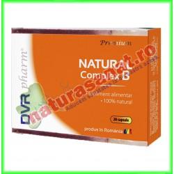Natural Complex B 20 capsule blisterizate - DVR Pharm - www.naturasanat.ro