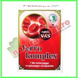 Ferro Complex 30 capsule - Dr. Chen Patika - Mixt Com - www.naturasanat.ro