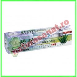 Pasta de Dinti fara Flor cu Aloe Vera 120 gr + Periuta - Dr. Chen Patika - Mixt Com - www.naturasanat.ro