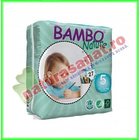 Bambo Nature Junior Scutece copii Marimea 5 (12-22 kg) 27 buc - Bambo Nature - Bambo Nature - www.naturasanat.ro