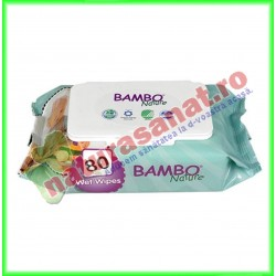 Bambo Nature Servetele Umede pentru Copii 80 buc - Bambo Nature - www.naturasanat.ro
