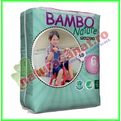 Bambo Nature Pants XL Scutece copii Marimea 6 (peste 18 kg) 18 buc - Bambo Nature - www.naturasanat.ro