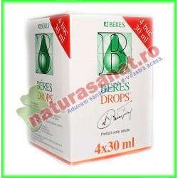 Beres Drops Picaturi Pachet 4 buc X 30 ml - Beres - www.naturasanat.ro