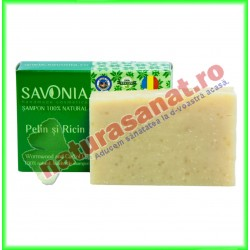 Sampon Solid Natural Pelin si Ricin 90 g - Savonia - www.naturasanat.ro
