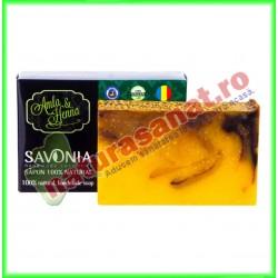 Sampon Solid Natural Amla si Henna 90 g - Savonia - www.naturasanat.ro