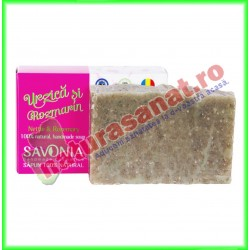 Sampon Solid Natural Urzica si Rozmarin 90 g - Savonia - www.naturasanat.ro