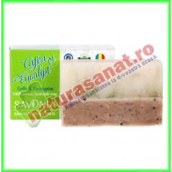 Sapun Natural Cafea si Eucalipt 90 g - Savonia - www.naturasanat.ro