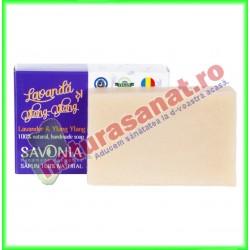 Sapun Natural Lavanda si Ylang Ylang 90 g - Savonia - www.naturasanat.ro
