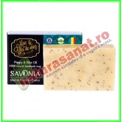 Sapun Natural Mac si Ulei de Orez 90 g - Savonia - www.naturasanat.ro