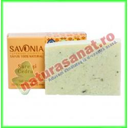 Sapun Natural Sare si Cedru 90 g - Savonia 90 g - Savonia - www.naturasanat.ro