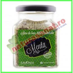 Sare de Baie cu Menta 250 g - Savonia - www.naturasanat.ro