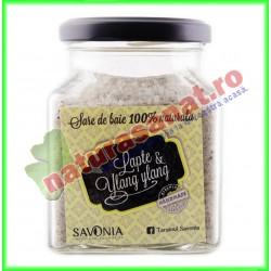 Sare de Baie cu Lapte si Ylang Ylang 250 g - Savonia - www.naturasanat.ro