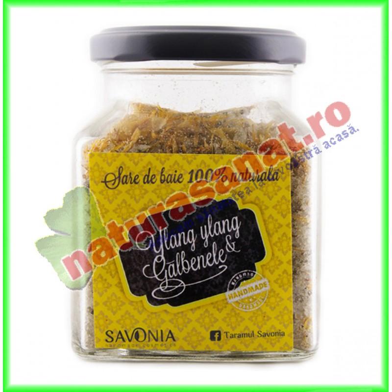 Sare de Baie cu Ylang Ylang si Galbenele 250 g - Savonia - www.naturasanat.ro