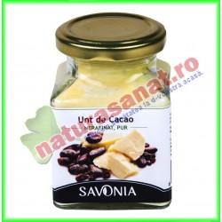 Unt de Cacao Nerafinat 200 ml ( 175 g ) - Savonia - www.naturasanat.ro