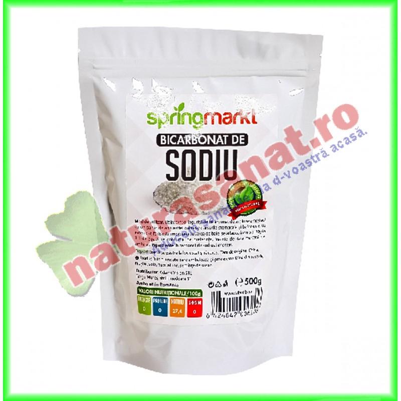 Bicarbonat de Sodiu Alimentar 500 g - Springmarkt - www.naturasanat.ro