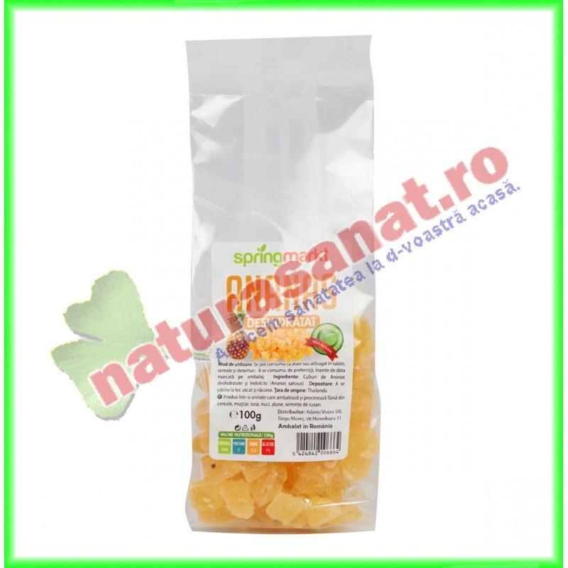 Ananas Deshidratat 100 g - Springmarkt - www.naturasanat.ro
