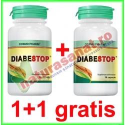 Diabestop 30 capsule PROMOTIE 1+1 GRATIS - Cosmo Pharm - www.naturasanat.ro