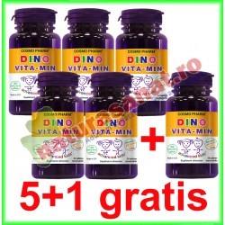 Dino Vita-Min 30 capsule PROMOTIE 5+1 GRATIS - Cosmo Pharm - www.naturasanat.ro