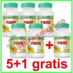 Fibre 30 tablete PROMOTIE 5+1 GRATIS - Cosmo Pharm - www.naturasanat.ro