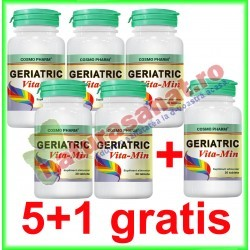 Geriatric Vita-Min 30 tablete PROMOTIE 5+1 GRATIS - Cosmo Pharm - www.naturasanat.ro