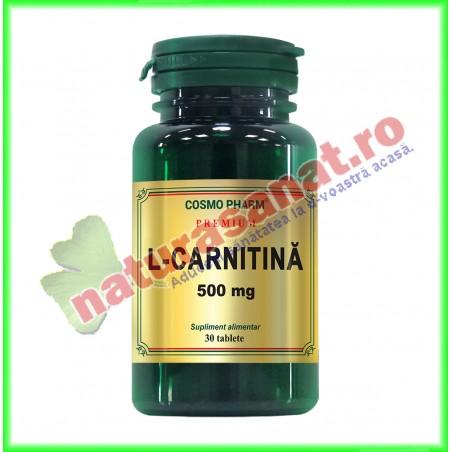L-Carnitina 500 mg 30 tablete - Cosmo Pharm - www.naturasanat.ro