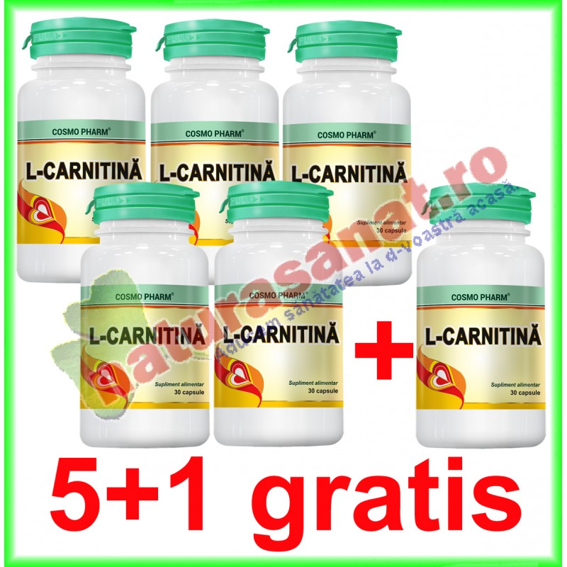 L-Carnitina 450 mg 30 tablete PROMOTIE 5+1 GRATIS - Cosmo Pharm - www.naturasanat.ro