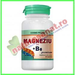 Magneziu 375+B6 Premium Formula 30 tablete - Cosmo Pharm - www.naturasanat.ro