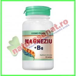 Magneziu + B6 30 tablete - Cosmo Pharm - www.naturasanat.ro