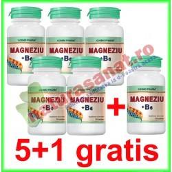 Magneziu + B6 30 tablete PROMOTIE 5+1 GRATIS - Cosmo Pharm - www.naturasanat.ro