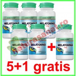 Melatonina 3 mg 30 capsule PROMOTIE 5+1 GRATIS - Cosmo Pharm - www.naturasanat.ro