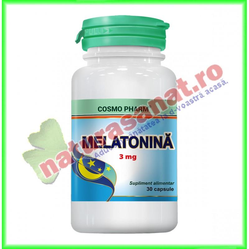 Melatonina 3 mg 30 capsule - Cosmo Pharm - www.naturasanat.ro