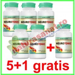Neurotonic 30 capsule PROMOTIE 5+1 GRATIS - Cosmo Pharm - www.naturasanat.ro