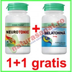 Neurotonic 30 capsule + Melatonina 3 mg 10 capsule GRATIS PROMOTIE - Cosmo Pharm - www.naturasanat.ro