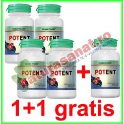 Potent 30 capsule PROMOTIE 4+1 GRATIS - Cosmo Pharm - www.naturasanat.ro