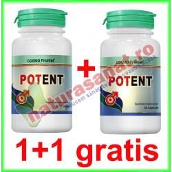 Potent 30 capsule PROMOTIE 1+1 GRATIS - Cosmo Pharm - www.naturasanat.ro