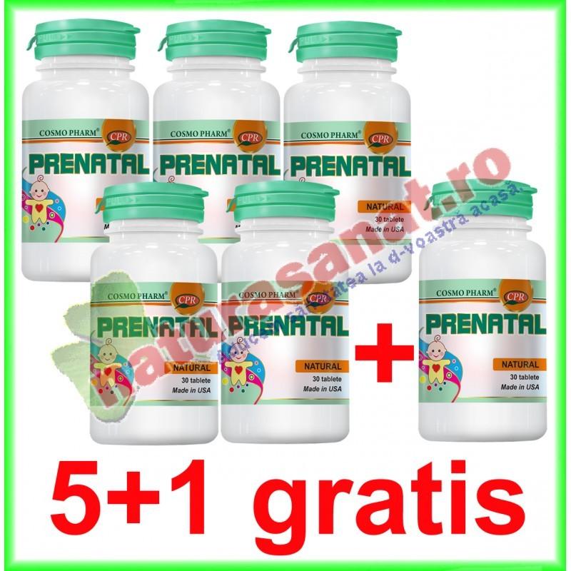 Prenatal 30 tablete PROMOTIE 5+1 GRATIS - Cosmo Pharm - www.naturasanat.ro