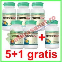 Prostatofort 30 capsule PROMOTIE 5+1 GRATIS - Cosmo Pharm - www.naturasanat.ro