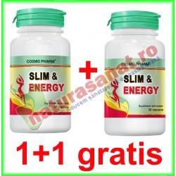 Slim & Energy 30 capsule PROMOTIE 1+1 GRATIS - Cosmo Pharm - www.naturasanat.ro