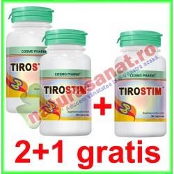 Tirostim 30 capsule PROMOTIE 2+1 GRATIS - Cosmo Pharm - www.naturasanat.ro