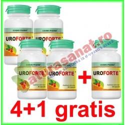 Uroforte 30 capsule PROMOTIE 4+1 GRATIS - Cosmo Pharm - www.naturasanat.ro