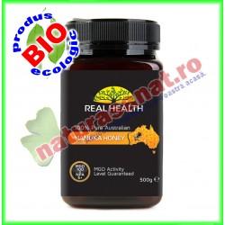 Miere de Manuka MGO 100 500 g - Real Health - www.naturasanat.ro
